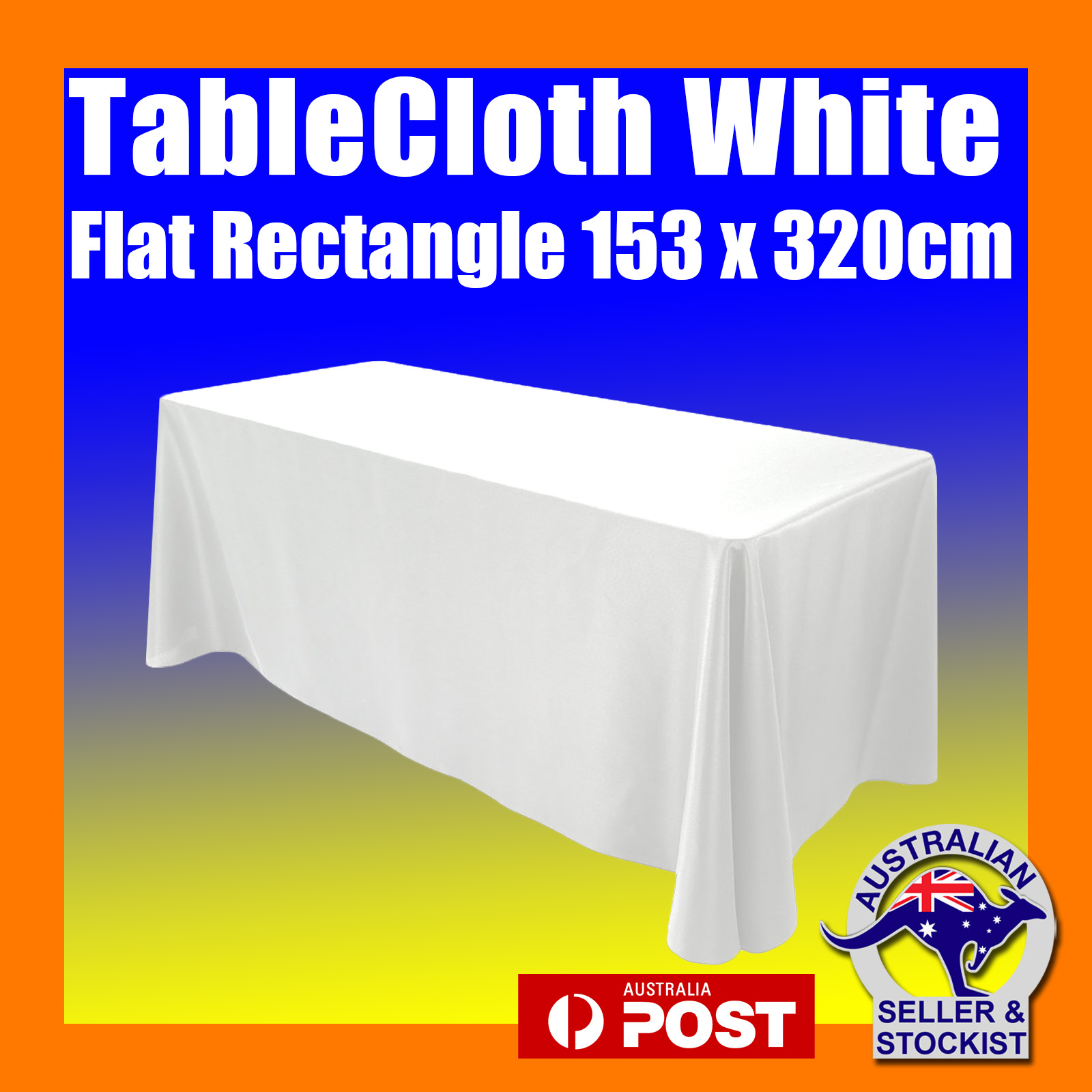 Tablecloths Rectangle White Wedding 8ft, What Size Linen For 8ft Rectangular Table