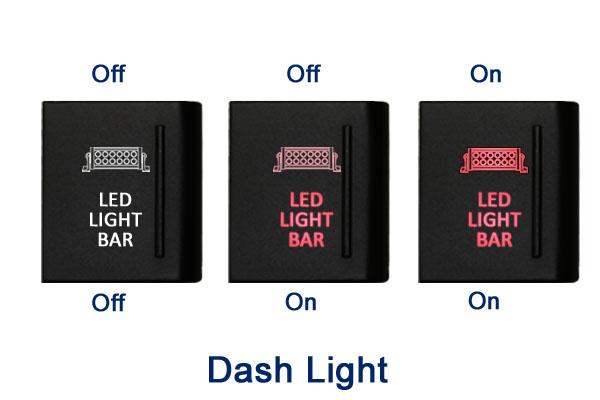Amarok Empuje Interruptor A117R Fog Lights On-Off LED ámbar//Rojo 12 V 3 A VW derecho
