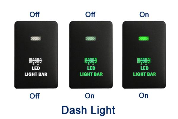 12v Push Switch 223b Spot Lights For Mitsubishi Triton Mq Mr Outlander Zk Blue