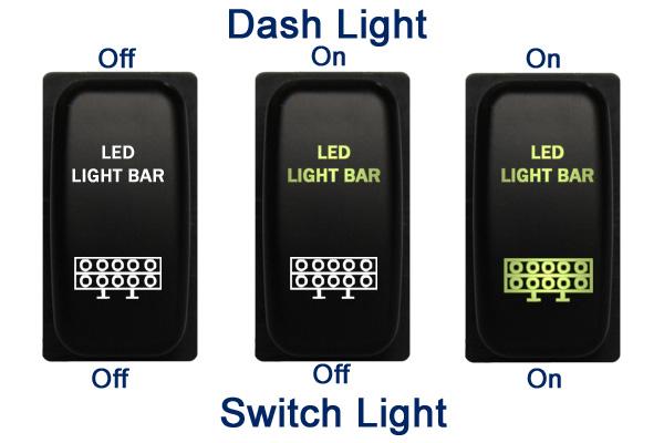 Mitsubishi Push Switch 123g Spot Lights Led Green Pajero