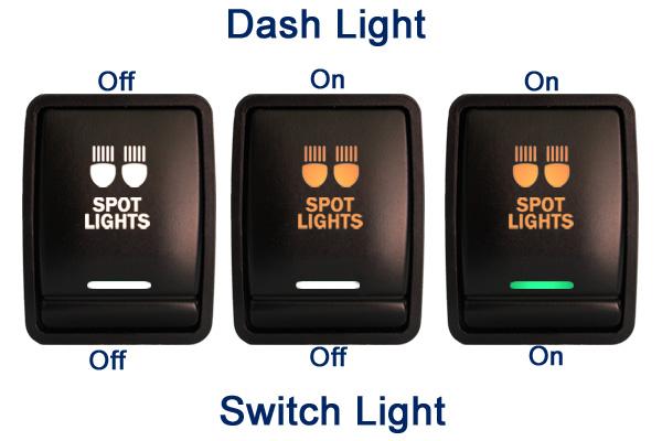 Push Switch 280go 12v Reverse Camera On