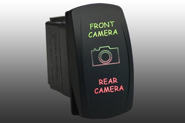 Rocker switch 6B11GR2 12V FRONT CAMERA REAR CAMERA Laser LED green red ...